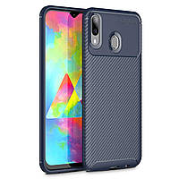 Чехол Carbon Case Samsung M205 Galaxy M20 Синий, фото 1