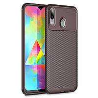 Чехол Carbon Case Samsung M205 Galaxy M20 Коричневый