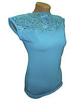 Блуза женская трикотажная лазурь