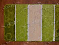 """Набор ковриков для ванной, 60х100 + 60х50см. """"Цветочки"""", цвет зеленый"""