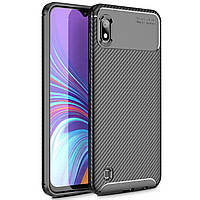 Чехол Carbon Case Samsung A105 Galaxy A10 Черный
