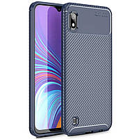 Чехол Carbon Case Samsung A105 Galaxy A10 Синий