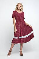 """Платье из масла """"Келли"""" р. 62 бордовый, фото 1"""