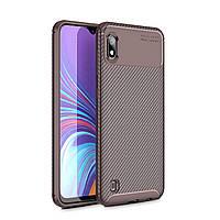 Чехол Carbon Case Samsung A105 Galaxy A10 Коричневый