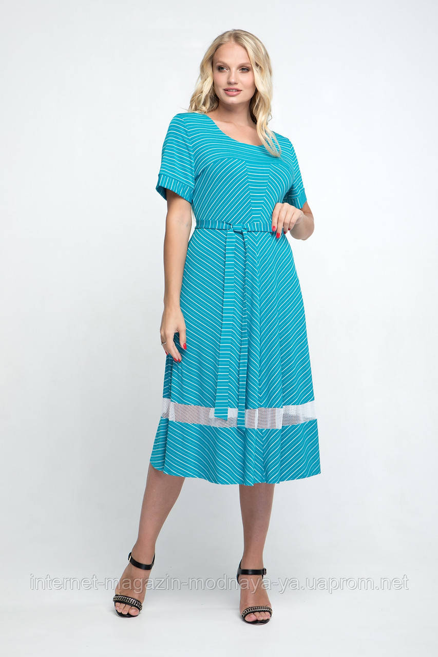 "Платье из масла ""Келли"" р. 58 бирюза"