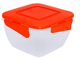 Алеана Пищевой контейнер квадратный с зажимом 0.45 л
