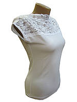 Блуза женская трикотажная белая