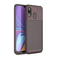Чехол Carbon Case Samsung A205 Galaxy A20 / A305 Galaxy A30 Коричневый