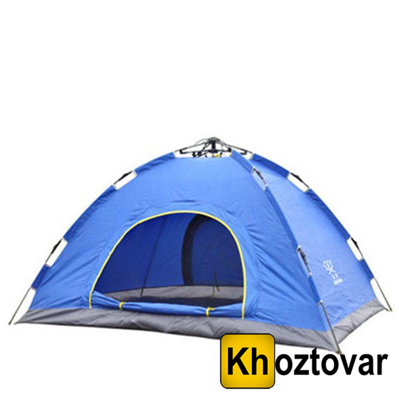 Палатка с автоматическим каркасом двухместная | Синяя палатка №3