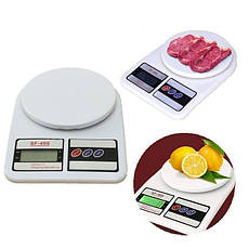Кухонные Электронные Весы SF400 (от 1 г. до 10 кг.) Белые, фото 3
