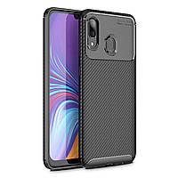 Чехол Carbon Case Samsung A405 Galaxy A40 Черный