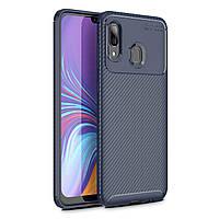 Чехол Carbon Case Samsung A405 Galaxy A40 Синий