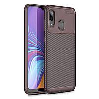 Чехол Carbon Case Samsung A405 Galaxy A40 Коричневый