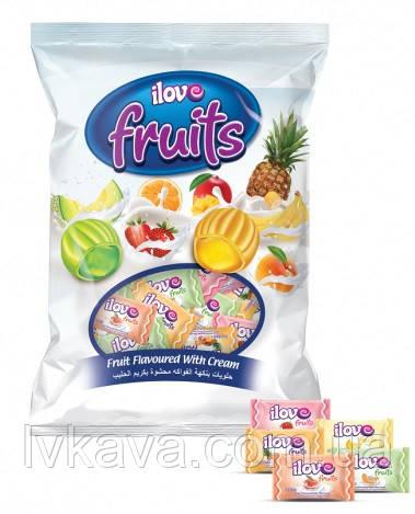 Карамель ilove fruits со вкусом фруктовое ассорти, 1 кг