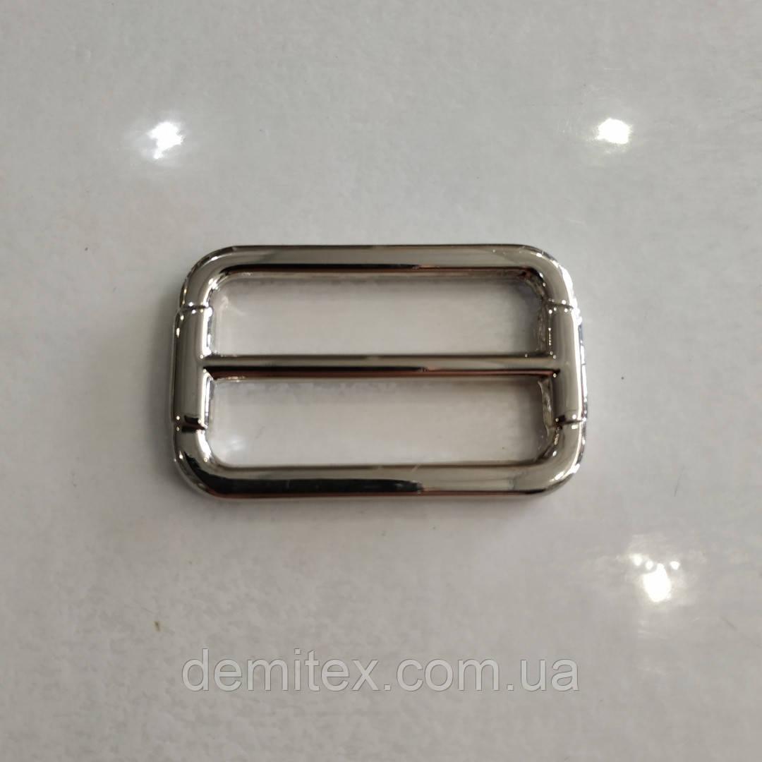 Рамка регулятор Перетяжка 38х20х4мм никель литая
