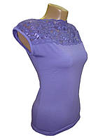 Блуза женская трикотажная сиреневая