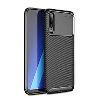 Чехол Carbon Case Samsung A505 Galaxy A50 Черный