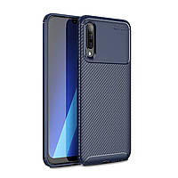 Чехол Carbon Case Samsung A505 Galaxy A50 Синий