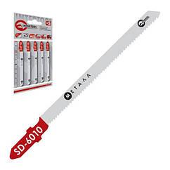 Полотно пильное для лобзика, рабочая длина 75 мм, шаг зуба 1,2 мм для листового металла INTERTOOL SD-6010
