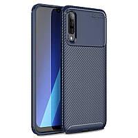 Чехол Carbon Case Samsung A705 Galaxy A70 Синий