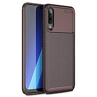 Чехол Carbon Case Samsung A705 Galaxy A70 Коричневый
