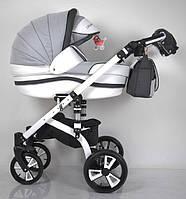 """Детская коляска универсальная 2 в 1 """"MACAN"""" White-Grey. Польша."""