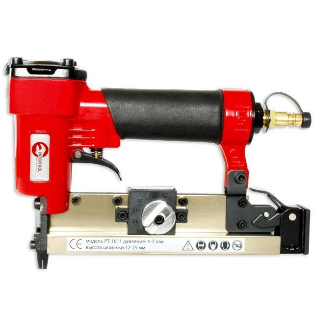 Степлер пневматический под шпильку от 12 до 25 мм INTERTOOL PT-1611
