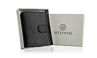 Чоловічий шкіряний гаманець Betlewski з RFID 9,5 х 12,2 х 2 (TPM-KZ-67) - чорний, фото 1