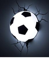 Светильник ночник Футбольный мяч 3D в стене - 3D football light  (Арт. 5738)