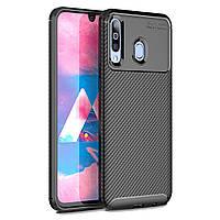 Чехол Carbon Case Samsung A407 Galaxy A40s / M305 Galaxy M30 Черный