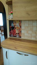 "Настенные часы для кухни на стекле ""Бокалы вина"" 2"