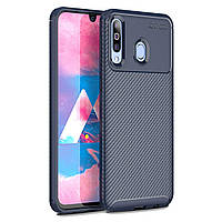 Чехол Carbon Case Samsung A407 Galaxy A40s / M305 Galaxy M30 Синий