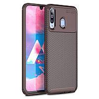 Чехол Carbon Case Samsung A407 Galaxy A40s / M305 Galaxy M30 Коричневый