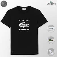Lacoste футболка мужская, черная , летняя , как оригинал