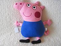Мягкая игрушка - подушка поросенок Джордж ручная работа