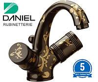 Смеситель для умывальника чёрный DANIEL L5112