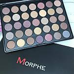 Палетка теней 35 матовых и перламутровых цветов Morphe Brushes 35T, фото 4