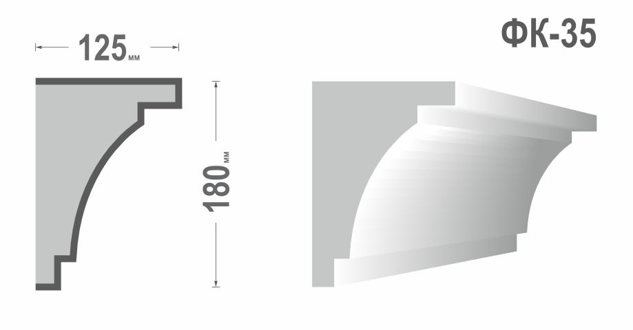 Фасадный карниз Фк-35