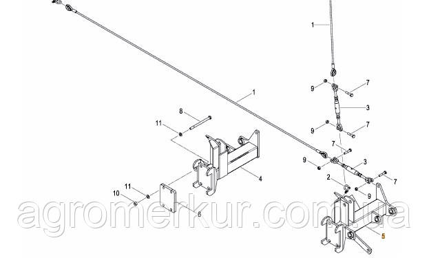 Кронштейн маркера AC824178 правий 6-9M  Kverneland