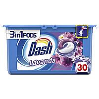 Капсули для прання універсального білизни Dash Lavanda Лаванда 3 в 1 30 шт, фото 1