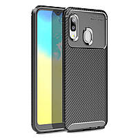 Чехол Carbon Case Samsung A202 Galaxy A20e Черный