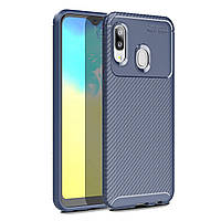 Чехол Carbon Case Samsung A202 Galaxy A20e Синий
