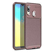 Чехол Carbon Case Samsung A202 Galaxy A20e Коричневый