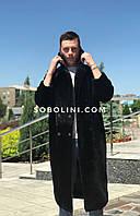 Пальто чоловіче з мутона в довжиною 120см, фото 1