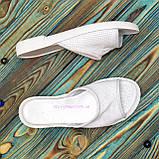 Женские кожаные шлепанцы на утолщенной подошве, цвет белый, фото 4