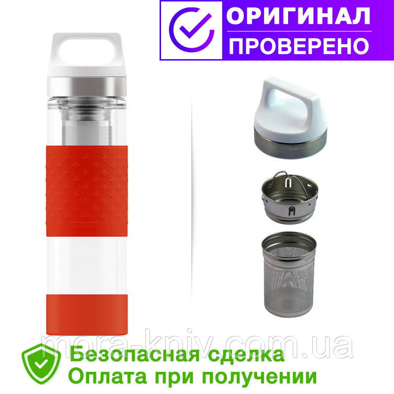 Термос SIGG original Flask Hot & Cold Glass Red 400 мл. Красный (8555.90)