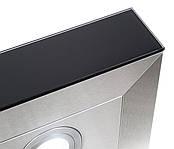 Вытяжка Т-образная VENTOLUX ITALIA 60 BG (900) TC нержавейка черное стекло, фото 3