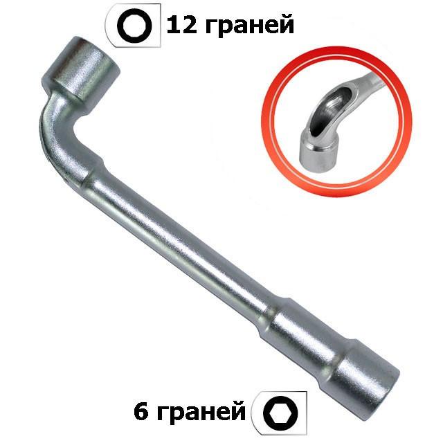 Ключ торцевой с отверстием L-образный 17мм INTERTOOL HT-1617