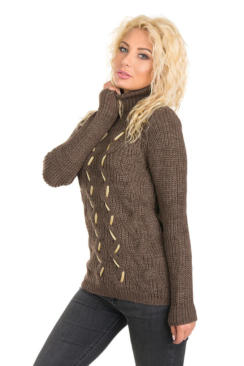 Теплый женский свитер (в расцветках 46)