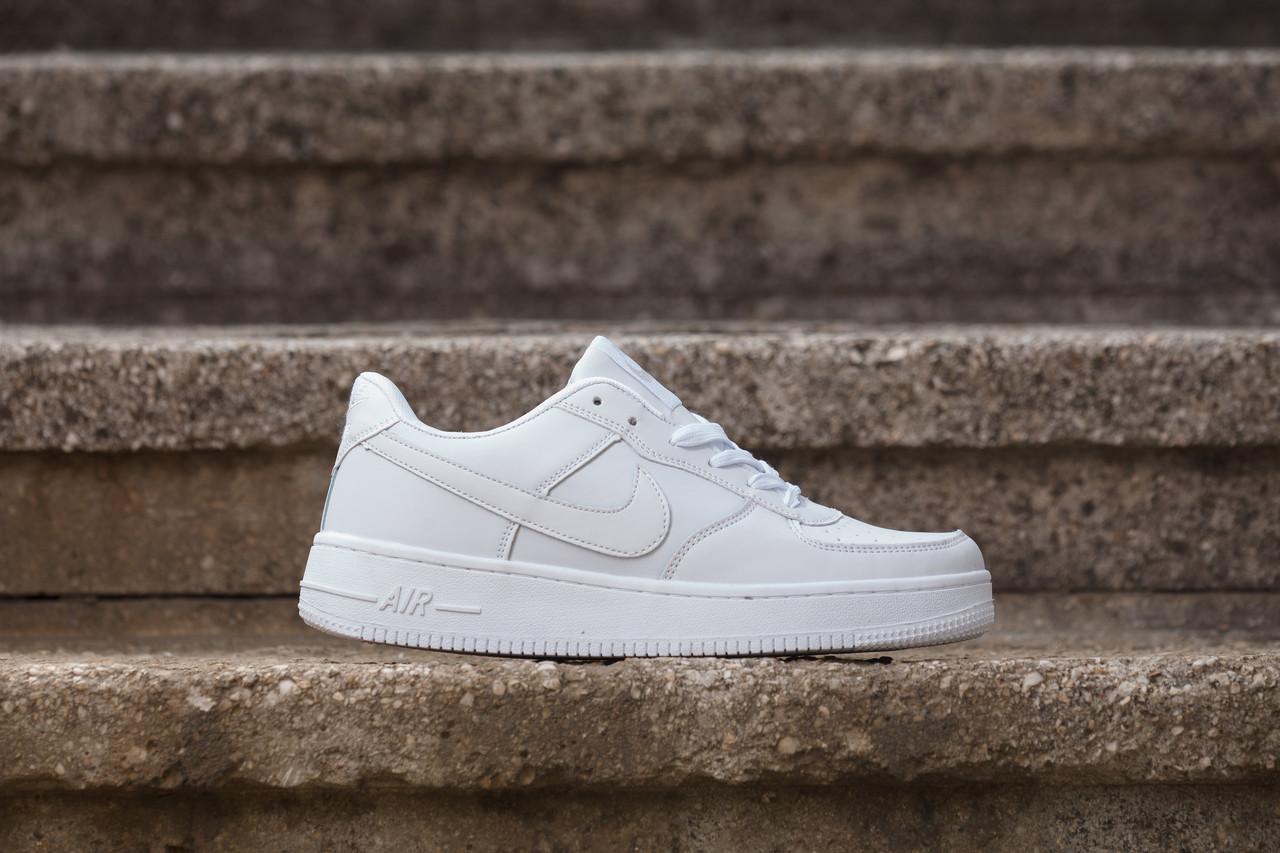 Кроссовки найк аир форс белые повседневные спорт (реплика) Nike Air Forse White